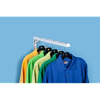 HangerJack Foldable Hanger Storage System For Clothes And Laundry, Closet  Organizer, Garage And Ladder