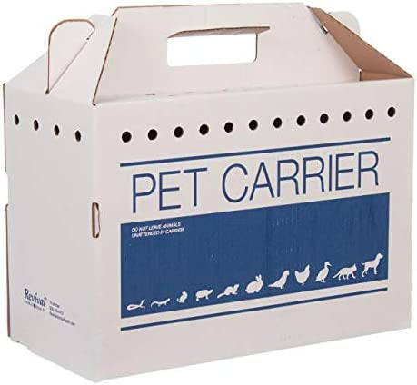 Revival Animal Health Cardboard Pet Carrier 12pk