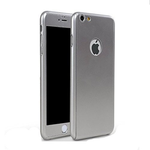 iPhone 6/6s Full Body Hard Case-Aurora Silver Front and Back Cover with Tempered Glass Screen Protector for iPhone 6/6s 4.7 Inch