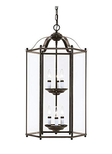 Sea Gull 5233EN-782 Bretton Pendant, 6-Light 21 Total Watts, Heirloom Bronze ()