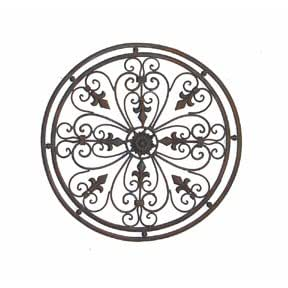 tuscan wrought iron 24 round wall grille with. Black Bedroom Furniture Sets. Home Design Ideas