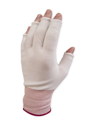 Purus GLHF-XL Nylon Half Finger Knit Glove Liner Cuff, 1.7 Mils Thick, Extra Large (Pack of 300 Pairs) by Purus