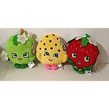 "Shopkins Season 4 Plush 6"" Set of 3 Apple Blossom Kooky Cookie Strawberry Kiss"