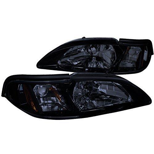 MST94G-TM Ford Mustang Gt/ Cobra Svt Headlights Smoked Lens W/Glossy Black Housing ()