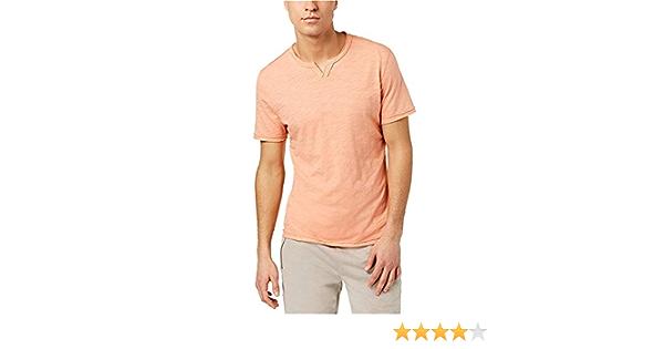 INC International Concepts Slim-Fit Split-Neck T-Shirt White Pure M