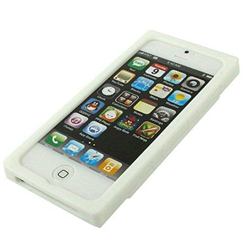 König-Shop Handy Hülle Schutz Case Cover Schale Kassette Etui für Apple iPhone SE Weiss Neu