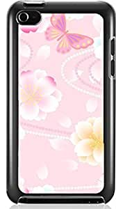 Wisedeal Retro Stripe Flower Hard Case for Apple iPod touch 4 4G 4TH ( Sugar Skull )