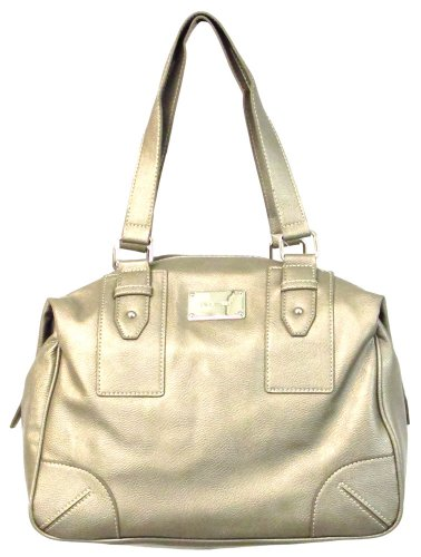 Nine West Raychel Satchel, colore: peltro