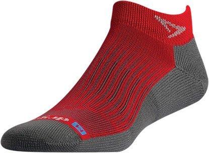 Drymax Run Mini Crew Socks Torrid Red/Anthracite XL by Drymax