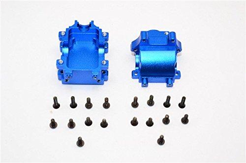 Team Losi Mini 8ight & 8ight-T Upgrade Parts Aluminum Rear Gear Box - 2Pcs Set Blue ()
