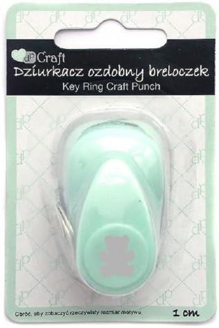 dp Craft  Key Ring Craft Punch 1 cm Bear