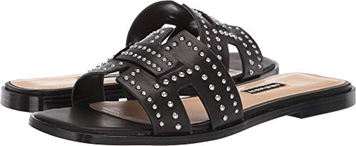 Nine West Women's Genesia Studded Slide Sandal Black 8.5 M US