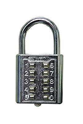 Ultra Hardware 55155 10 Digit Push Button Combination Padlock, 5 Digit Locking Mechanism, Chrome Plated by Ultra Hardware