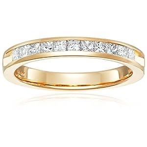14k Gold Princess Cut Diamond Anniversary Band (1/2 cttw, H I Color, I1 I2 Clarity)