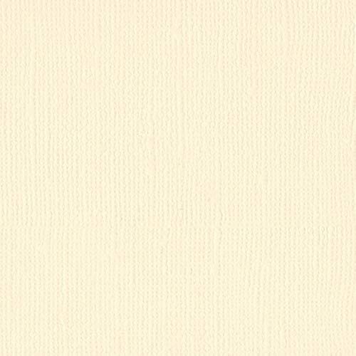 Bazzill Butter Cream 12x12 Textured Cardstock | 80 lb Cream Colored Scrapbook Paper | Premium Card Making and Paper Crafting Supplies | 25 Sheets per Pack ()