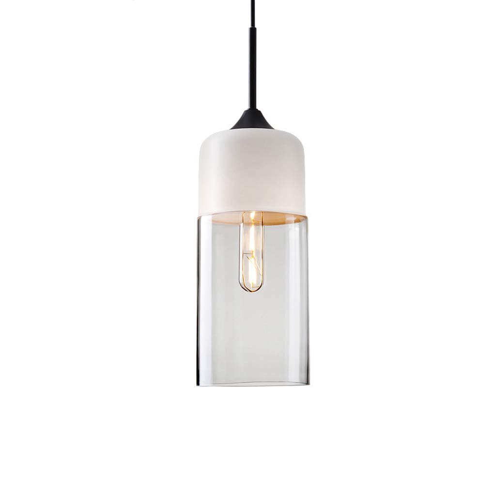 Retro Creative Personality Single Head Glass Chandelier, Nordic Style Chandelier Cafe Restaurant Chandelier (B)