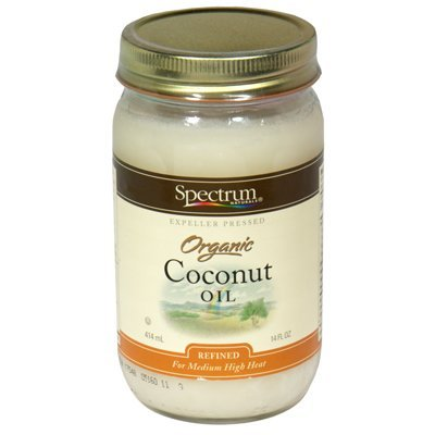 Spectrum Naturals Refined Coconut Oil 14 Oz -Pack of 3