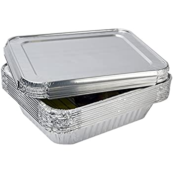 Amazon Com Ehomea2z Aluminum Foil Pans With Lids Half