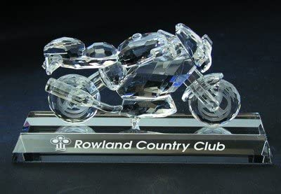 Crystal Sport Motorcycle Figurine – Base Sold Separately