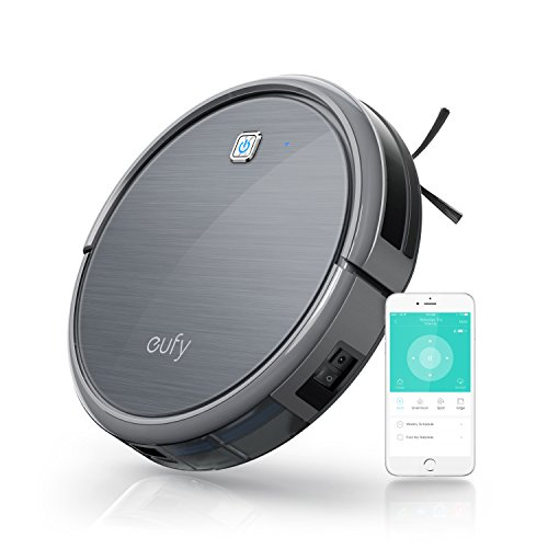 Eufy RoboVac 11c, Smart Wi-Fi Robotic Vacuum Cleaner, High Suction, Weekly Cleaning Schedule, Self-Docking, Hard Floor and Thin Carpet