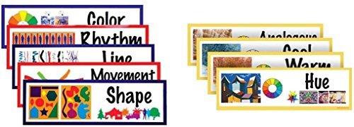 【超目玉】 Art Display Flash Cards, Elements B01K1X2S5U & Principles of Homeschool Design Set and Color Concepts Set - Extra Large for Classroom or Homeschool [並行輸入品] B01K1X2S5U, 京都MC:605dd7e1 --- mrplusfm.net