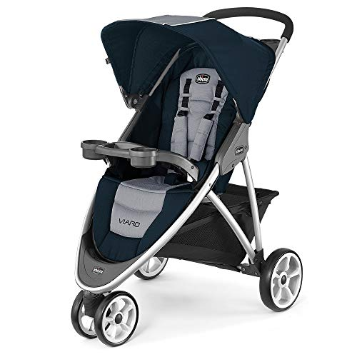 Chicco Viaro KeyFit Fit2 Compatible 3 Wheel Quick Fold Jogging Stroller, Regatta