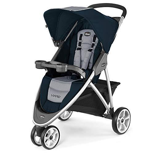 Chicco Viaro KeyFit Fit2 Compatible 3 Wheel Quick Fold Jogging Stroller, Regatta