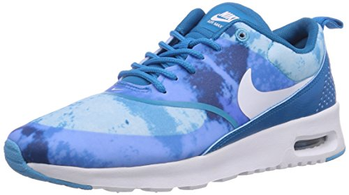 Nike Wmns Air Max Thea Print Dark Grey (599408-006) Light Blue Lacquer/White-clearwater