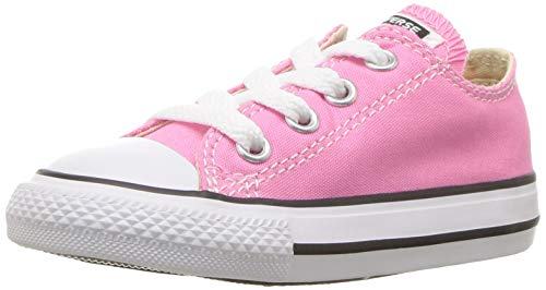 Converse Clothing & Apparel Chuck Taylor All Star Low Top Kids Sneaker, Pink, 27 ()