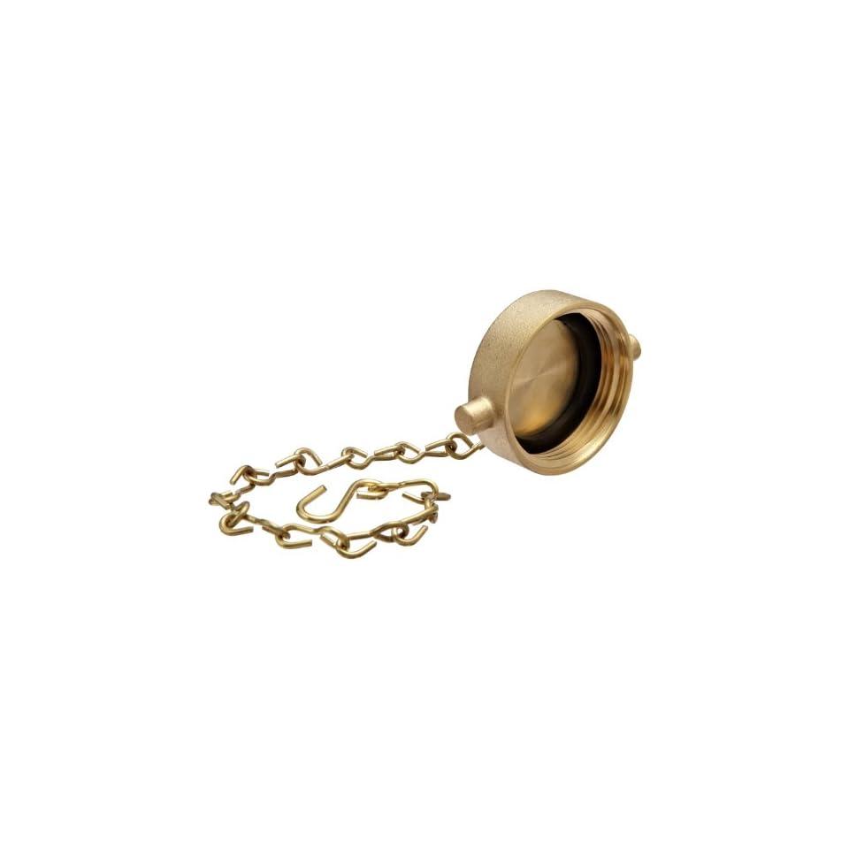 Moon 662 1511 Brass Fire Hose Fitting, Cap, 1 1/2 NPSH Cap