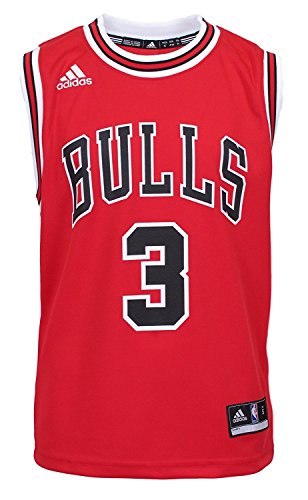 NBA Chicago Bulls Dwyane Wade Youth 8-20 Replica Road Jersey Red (Red, Large (14/16))