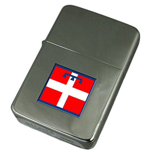 Engraved Lighter Piemonte Region Italy Flag by Select Gifts