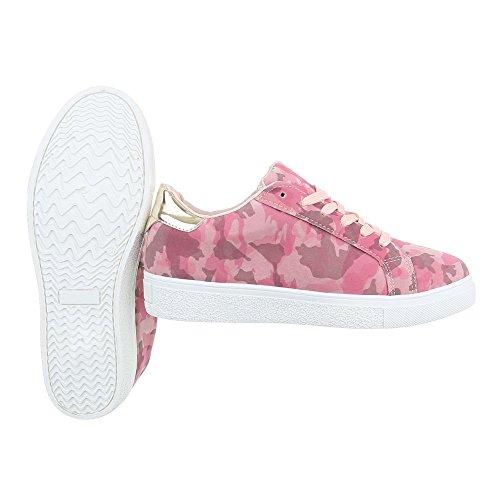 Ital-Design - Tobillo bajo Mujer Pink Multi