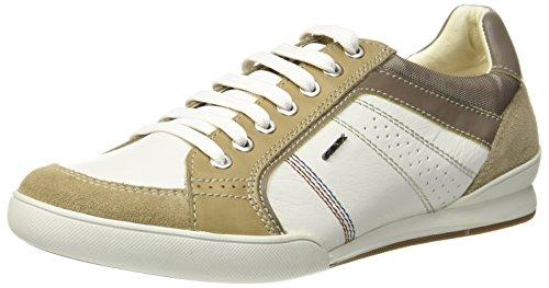 Geox Herren U Kristof A Sneaker Weiß (White/Sand)
