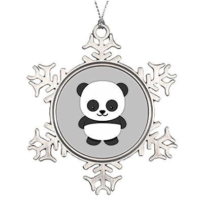 Metal-Ornaments-Ideas-For-Decorating-Christmas-Trees-Anied-Panda-Bear-Retro-Snowflake-Ornaments