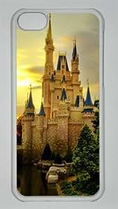 Disney Cinderella Castle or Cinderella Palace Custom PC Transparent Case for iPhone 5C by LZHCASE
