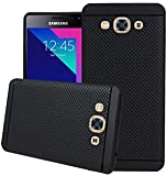 RSC POWER+ 360* Protection Premium Dotted Designed Soft Rubberised Back Case Cover For SAMSUNG GALAXY J3 PRO -Black