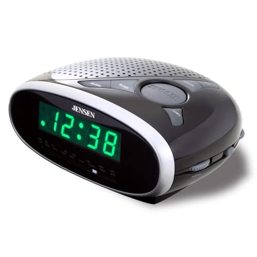 Jensen JCR175 AM/FM Alarm Clock Radio with...