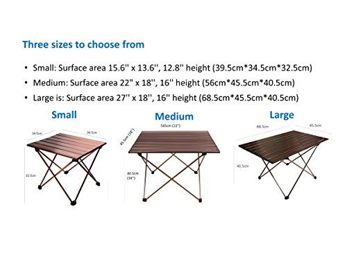 Trekology Portable Camping Beach Picnic Table With Aluminum