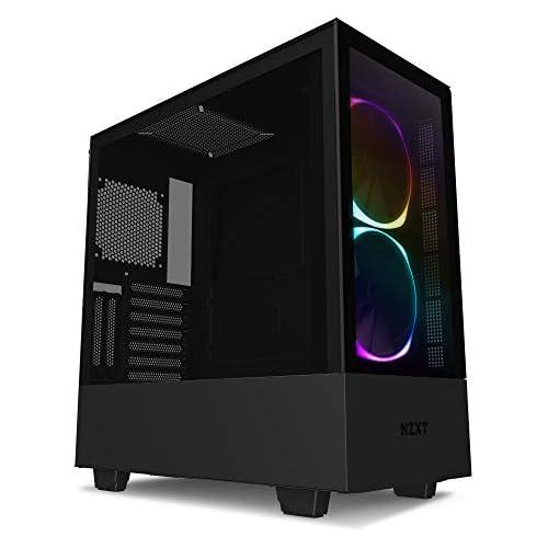 chollos oferta descuentos barato NZXT H510 Elite Caja PC Gaming Semitorre Premium ATX Doble Panel de Cristal Templado Panel frontal E S Puerto USB de Tipo C Montaje Vertical de la GPU Iluminación RGB integrada Negro