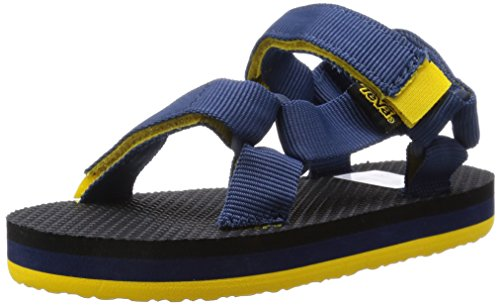 Teva Orginal Universal Kids Sport Sandal (Toddler/Little Kid/Big Kid), Navy/Yellow, 9 M US Toddler