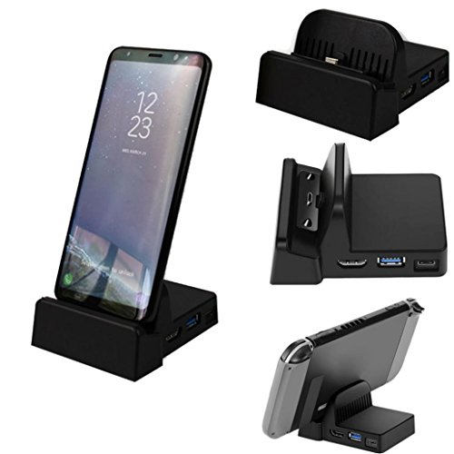 Aobiny HDMI Station Desktop Extension Charging Dock for Samsung S8 Samsung S8 Plus Samsung Note 8 by Aobiny