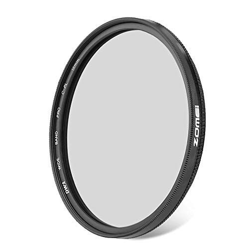 Zomei 58mm CPL Ultra Slim Circular Polarizing Lens Filter for Camera Lenses Optical Glass Lens Filter Suitable for Landscape Photography