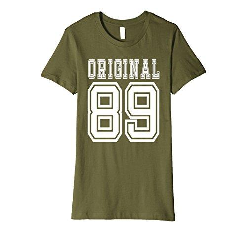 Womens 28th birthday Gift 28 Year Old Present Idea 1989 T-Shirt F Medium Olive