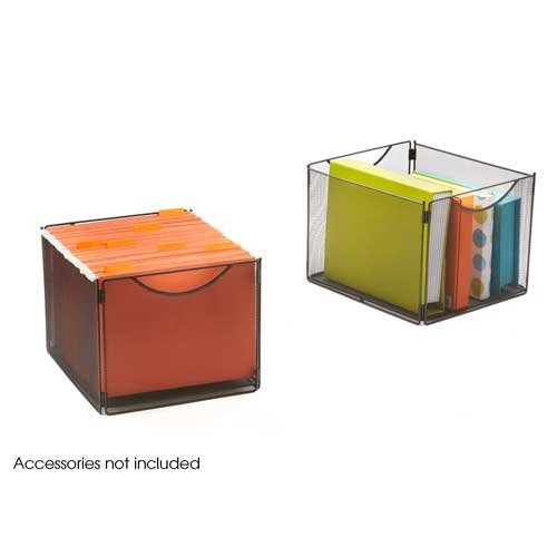 Black Onyx Cube (Safco Products 2173BL Onyx Mesh Cube Bins for use with Onyx Mesh Cubes 2172BL, sold separately, Black)