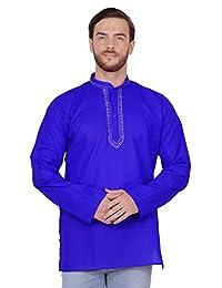 SKAVIJ Men's Cotton Kurta Shirt Long Sleeve Regular Fit