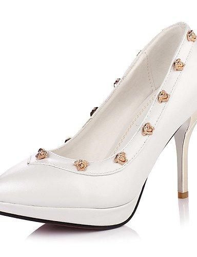 GGX/Damen Schuhe Chunky Ferse Spitz Nieten Plattform Pumpe mehr Farbe erhältlich red-us6.5-7 / eu37 / uk4.5-5 / cn37