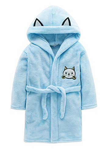 detailed pictures special promotion best quality A Tronic Cute Cat Children's Hooded Bathrobe Kids Soft ...