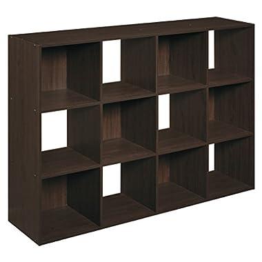 ClosetMaid (1292) Cubeicals Organizer, 12-Cube - Espresso