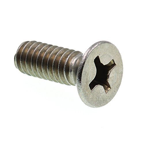Prime-Line 9001821 Machine Screw, Flat Head Phillips, 1/4 in-20 X 3/4 in, Grade 18-8 Stainless Steel, Pack of - Flat Phillips Machine 3/4 Head